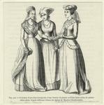 Costumes D'Une Riche Bourgeoise, D'Une Femme Du Peuple Et D'Une Dame Noble Du Quatorzième Siècle.