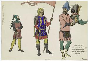 XIV. s. milieu, gentilhomme fl... Digital ID: 810668. New York Public Library