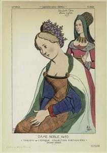 Dame noble, 1495 ; Elisabeth Clère, dame anglaise, 1485.