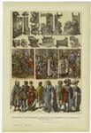 Edad Media : Trajes, Muebles Y Escenas De Costumbres De Los Países-Bajos En El Siglo Xv.