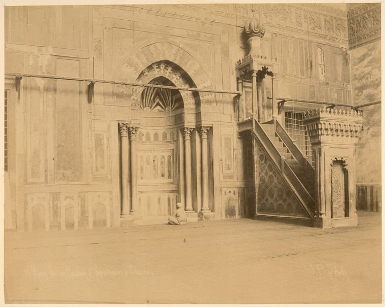 [Mosque of Sultan Hassan, interior.]