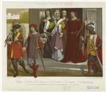 Ecuyers ; La Veuve ; La Marquise ; La Chevalière ; Le Baron ; Le Chevalier.