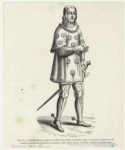 Louis de Mallet, seigneur de Graville, amiral de France (1487), en costume de guerre et de tournoi.