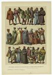 Edad Media - Trajes De Los Italianos En La Primera Mitad Del Siglo Xv.