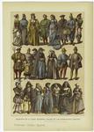 Principio De La Edad Moderna -- Trajes De Los Países-Bajos (1480-1580).