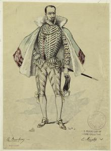 [Bearded man in a cape, Spain, sixteenth century.]