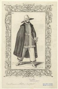 [Spanish man in hat and cape, Galicia, sixteenth century.]