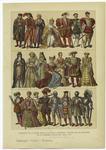 Tránsito De La Edad Media A La Edad Moderna--Trajes De Los Ingleses En La Primera Mitad Del Siglo Xvi.
