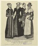 Costumes Of Burgher-Women And A Country-Woman.