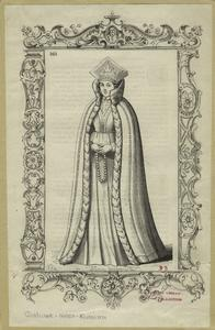 [Livonian in robe with headgear, Russia, 17th century.]