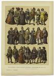 Edad Moderna : Trajes Italianos ; Españoles Y Portugueses Del Siglo Xvii.