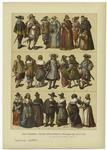 Edad Moderna : Trajes Neerlandeses É Ingleses Del Siglo Xvii.