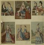 French Women Wearing Various Styles Of Headdresses, 17th Century.
