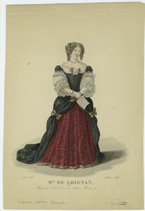 Mme. de Grignan, présentée à la cour en 1663, morte en 1705.