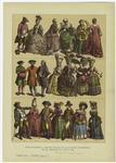 Edad moderna -- trajes usados en la Europa occidental en el periodo de 1760 á 1790.