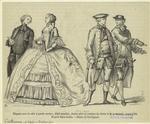 Élégante Avec La Robe À Grands Paniers, Abbé Mondain, Jeunes Gens En Costume De Chasse Et De Promenade Avant 1760.