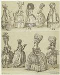 Women In Dresses, France, 18th Century.