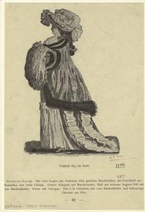 [Woman dressed with a had and muff, Germany.]