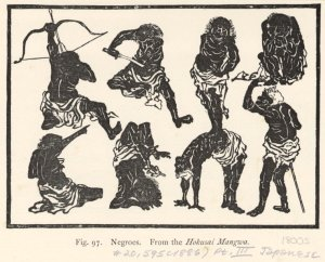 Negroes. From the Hokuswai Mangwa.