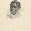 Girl smiling, United States, 19th century