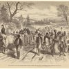 The effects of the proclamation -- freed Negroes coming into our lines at Newbern, North Carolina.