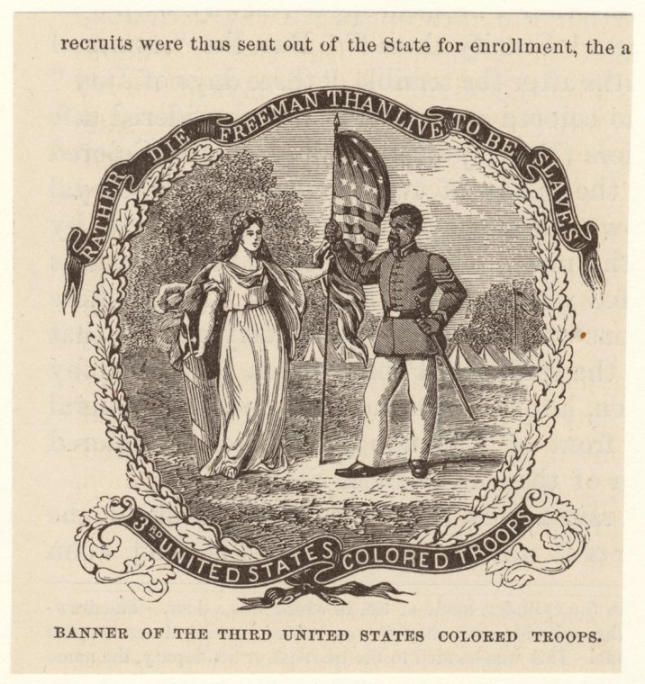 Banner of the Third United States Colored Troops.