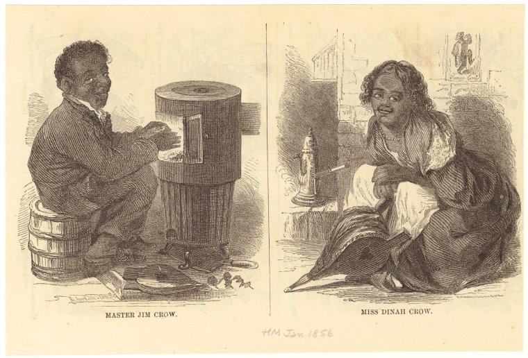 Master Jim Crow ; Miss Dinah Crow.