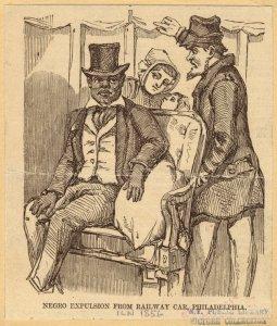 Negro expulsion from railway car, Philadelphia.