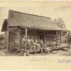 A log cabin.