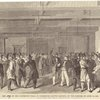 The area of the convention hall at Charleston, South Carolina, on the morning of April 23, 1860.