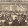 The House committee of impeachment managers in the Senate chamber, Washington, D.C., on the 4th inst.