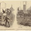 The riot in New Orleans--murdering negroes in the rear of Mechanics' Institute ; Platform in Mechanics' Institute after the riot.