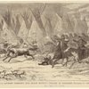 The Seventh U.S. Cavalry charging into Black Kettle's village at daylight, November 27, 1868.