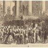 President Johnson addressing his fellow-citizens at Washington, February 22, 1866.