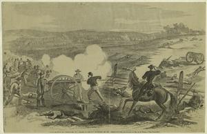 The Battle of Antietam : the First Maryland Battery in the fore-ground.