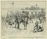 Jackson's troops pillaging the Union depot of supplies at Mannassas junction.