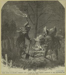 Night burial of Colonel Garesche, chief of staff to Major General Rosecrans, on the battlefield of Stone River, Tenn.