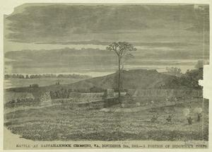 Battle at Rappahannock Crossing, Va., November 7th, 1863 --a portion of Sedgwick's corps.