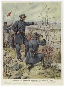 Sherman at Kenesaw Mountain, October 4, 1864.