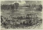 The Second Corps, under General Hancock, flanking the Confederate works at Armstrong's Mill, on Hatcher's Run, Va., October 27th, 1864.