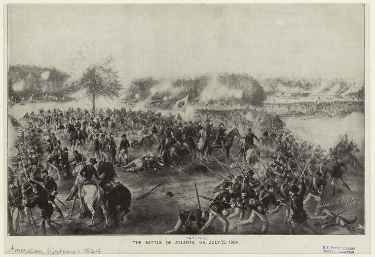 The Battle of Atlanta, Ga., July 22, 1864.