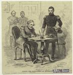 Signing the capitulation at Appomattox.
