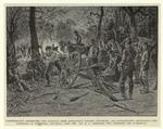 Confederates destroying the railroad from Appomattox toward Lynchburg, and artillerymen destroying gun-carriages at nightfall, Saturday, April 8th.