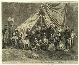 Tent of the American Union Commission, Capitol Square, Richmond, Virginia, July 4, 1865.