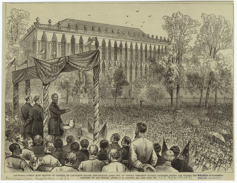 Fascinating Historical Picture of S. W. Bennett on 4/28/1877