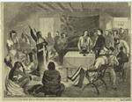 """The Indian War in the United States -- the """"Sitting Bull"""" Council at Fort Walsh, British territory, October 1877."""