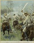 A charge of Cuban cavalry armed with machetes.