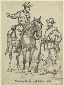 Volunteer cavalry and infantry, 1898.