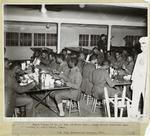 Negro Troops Of Co. B. 3rd. Qm Truck Regt., Being Served Breakfast Upon Arrival At Kelly Field, Texas.