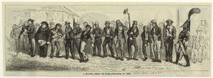 A militia drill in Massachusetts in 1832.